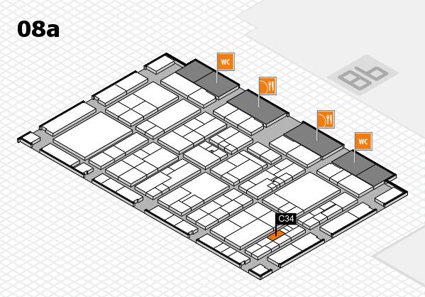 K 2016 hall map (Hall 8a): stand C34