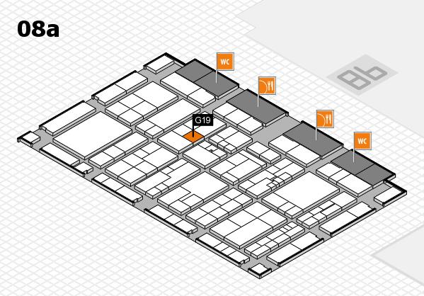K 2016 hall map (Hall 8a): stand G19
