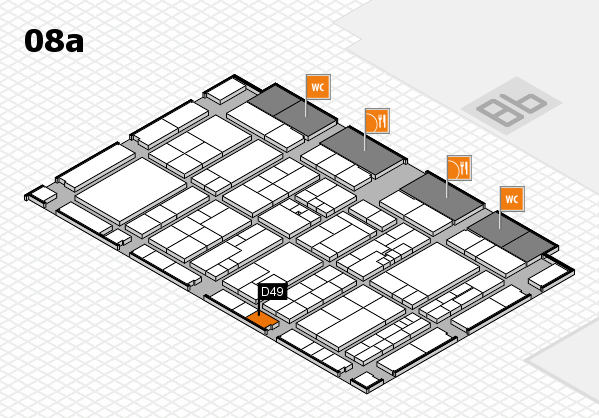 K 2016 hall map (Hall 8a): stand D49