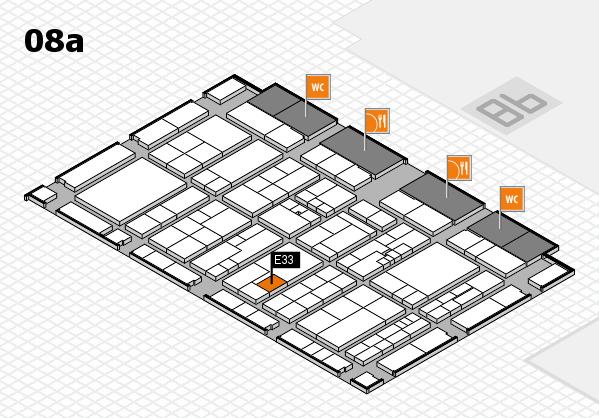 K 2016 hall map (Hall 8a): stand E33