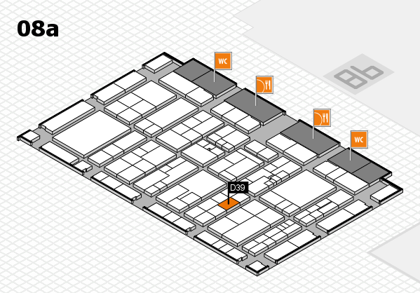 K 2016 hall map (Hall 8a): stand D39
