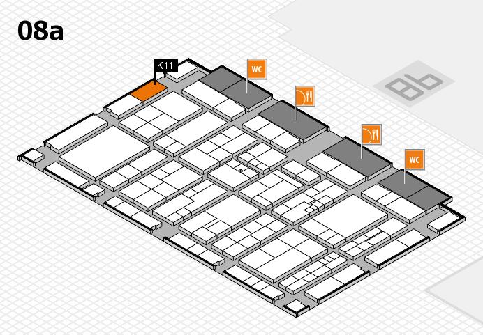 K 2016 hall map (Hall 8a): stand K11