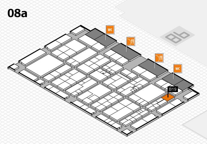 K 2016 hall map (Hall 8a): stand B19