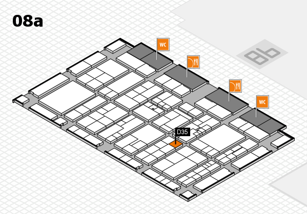 K 2016 hall map (Hall 8a): stand D35