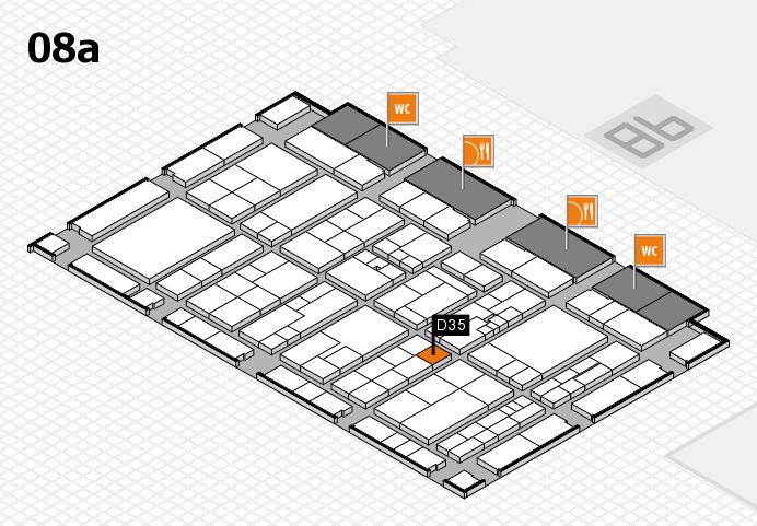 K 2016 hall map (Hall 8a): stand D35