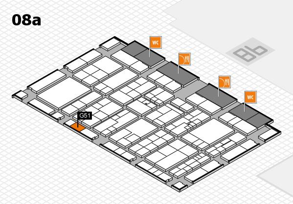 K 2016 Hallenplan (Halle 8a): Stand G51