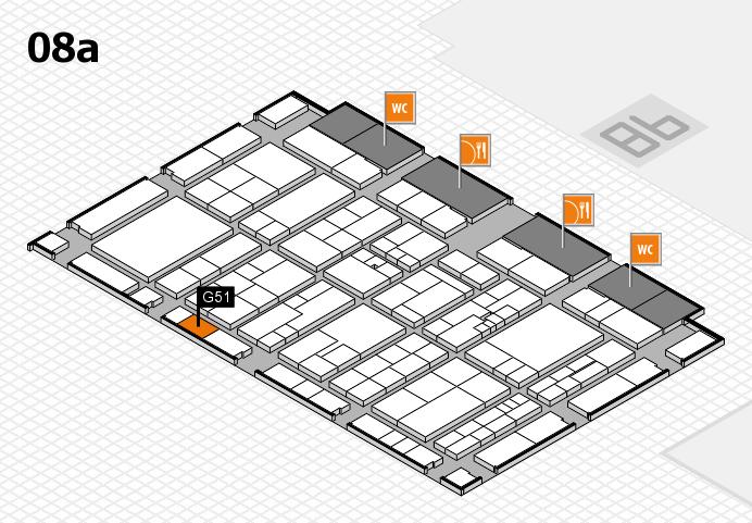 K 2016 hall map (Hall 8a): stand G51