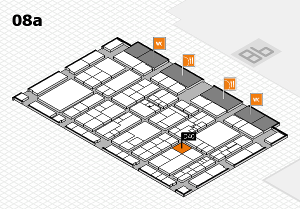 K 2016 hall map (Hall 8a): stand D40