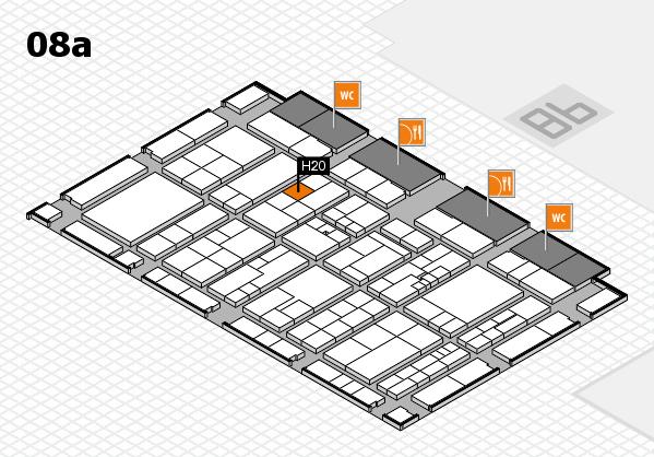 K 2016 hall map (Hall 8a): stand H20