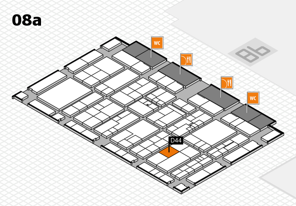 K 2016 hall map (Hall 8a): stand D44