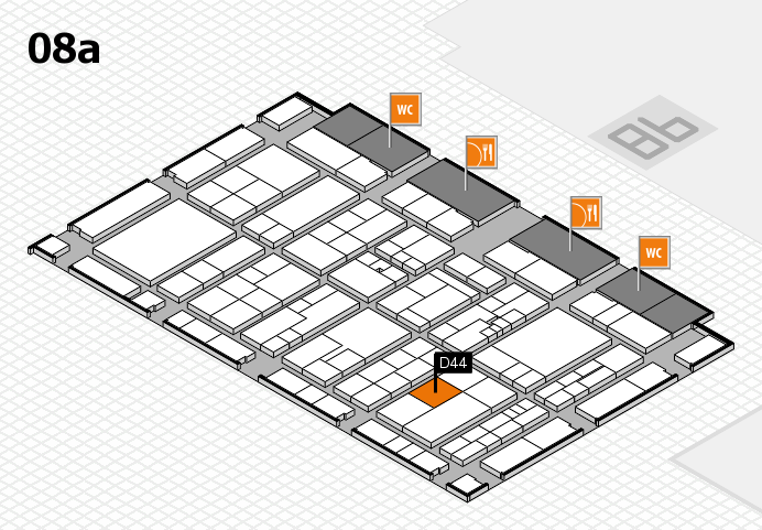 K 2016 hall map (Hall 8a): stand D44