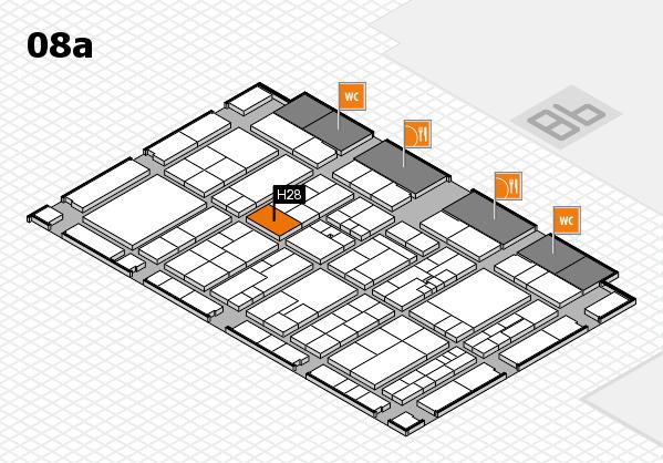 K 2016 hall map (Hall 8a): stand H28