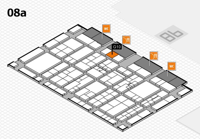 K 2016 hall map (Hall 8a): stand G10