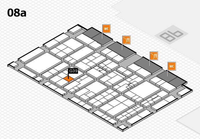 K 2016 hall map (Hall 8a): stand G39