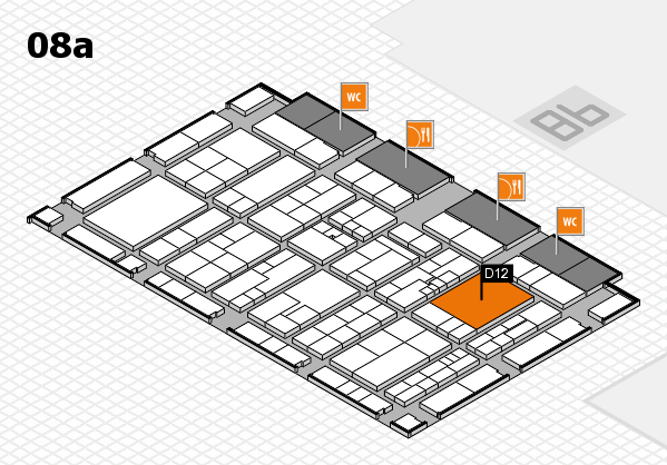 K 2016 hall map (Hall 8a): stand D12