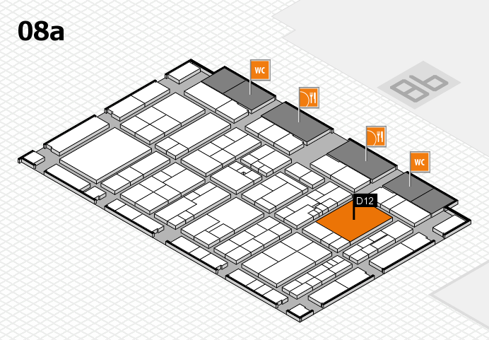 K 2016 hall map (Hall 8a): stand D12