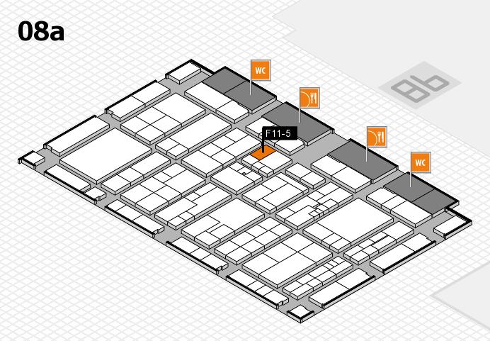 K 2016 hall map (Hall 8a): stand F11-5