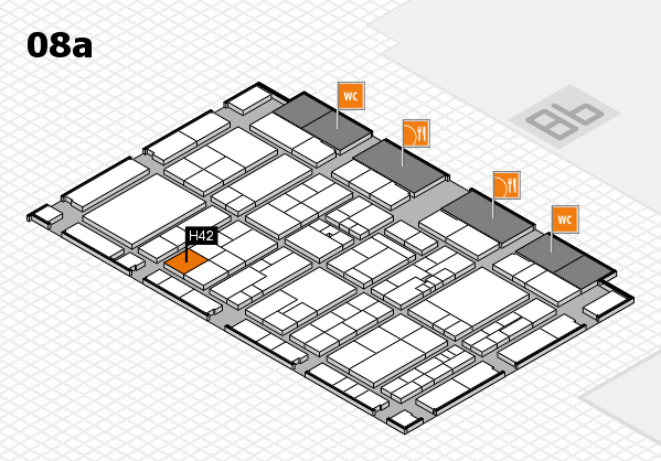 K 2016 hall map (Hall 8a): stand H42