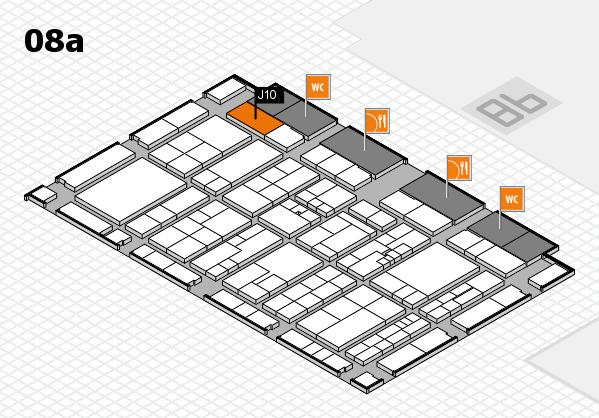K 2016 hall map (Hall 8a): stand J10