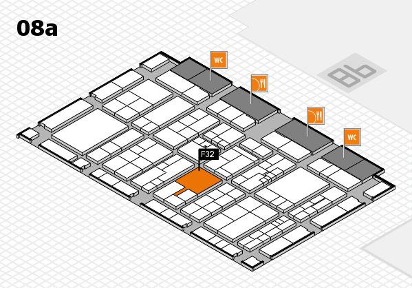 K 2016 hall map (Hall 8a): stand F32