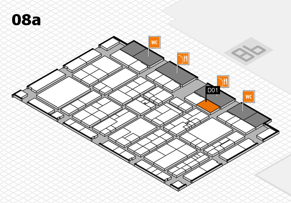 K 2016 hall map (Hall 8a): stand D01
