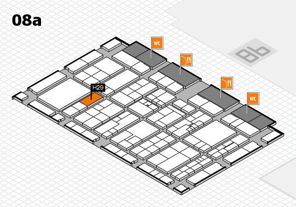 K 2016 hall map (Hall 8a): stand H29