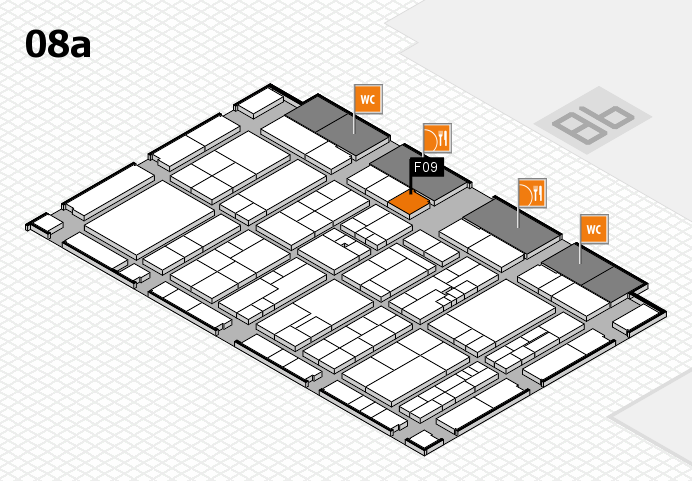 K 2016 hall map (Hall 8a): stand F09