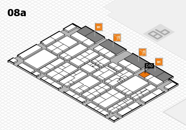 K 2016 hall map (Hall 8a): stand D10