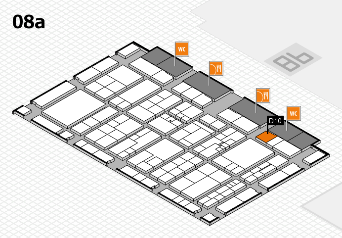 K 2016 hall map (Hall 8a): stand D10