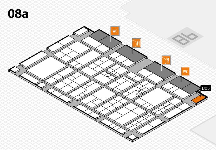 K 2016 hall map (Hall 8a): stand B05