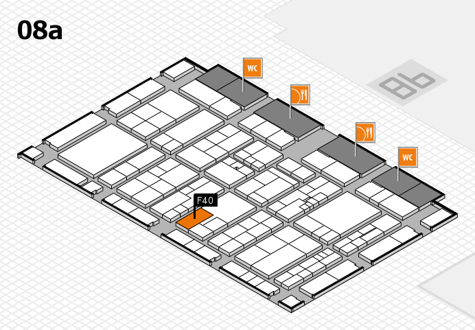 K 2016 hall map (Hall 8a): stand F40