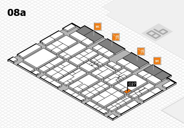 K 2016 hall map (Hall 8a): stand C27