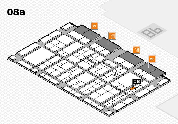 K 2016 hall map (Hall 8a): stand C18