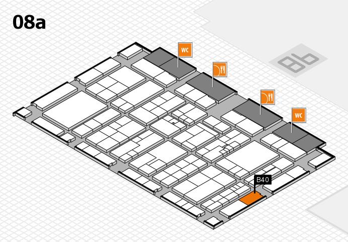 K 2016 hall map (Hall 8a): stand B40