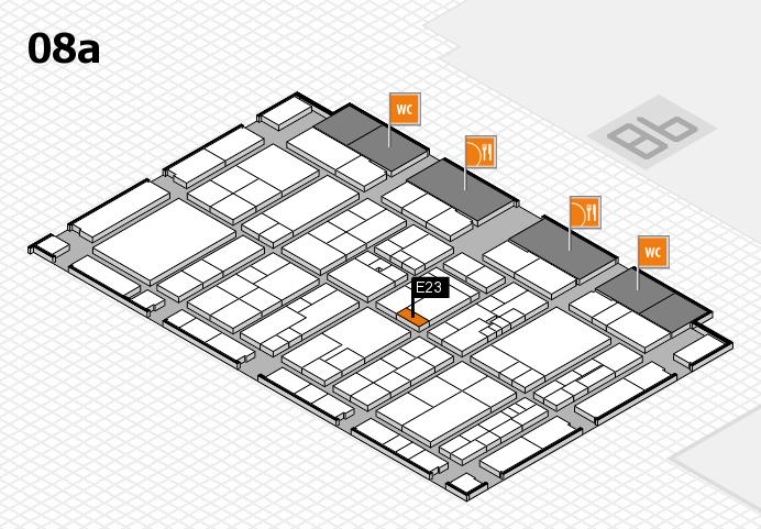 K 2016 hall map (Hall 8a): stand E23