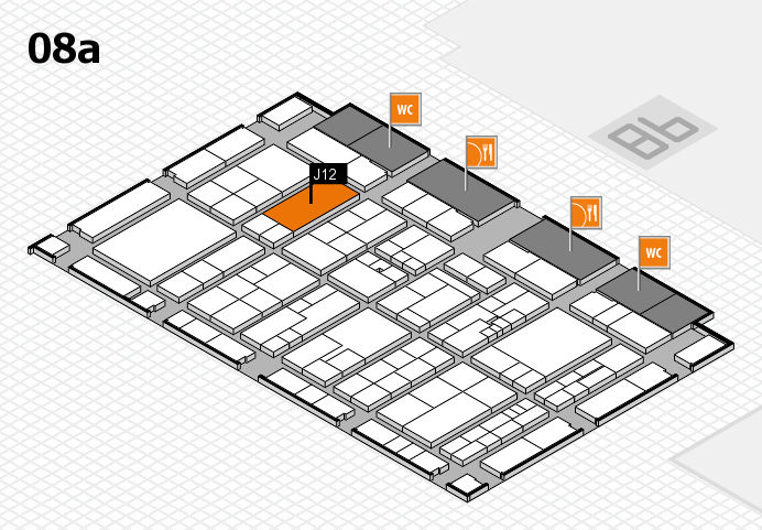 K 2016 hall map (Hall 8a): stand J12
