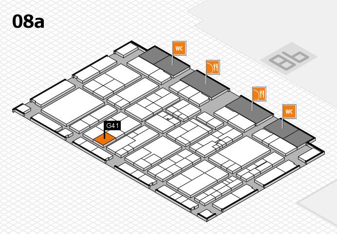K 2016 hall map (Hall 8a): stand G41