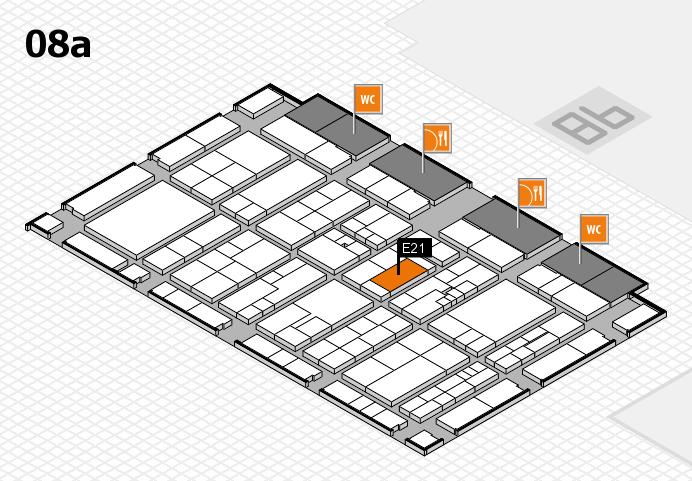 K 2016 hall map (Hall 8a): stand E21