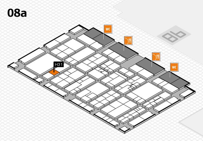 K 2016 hall map (Hall 8a): stand H31