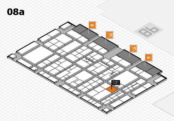 K 2016 hall map (Hall 8a): stand C31