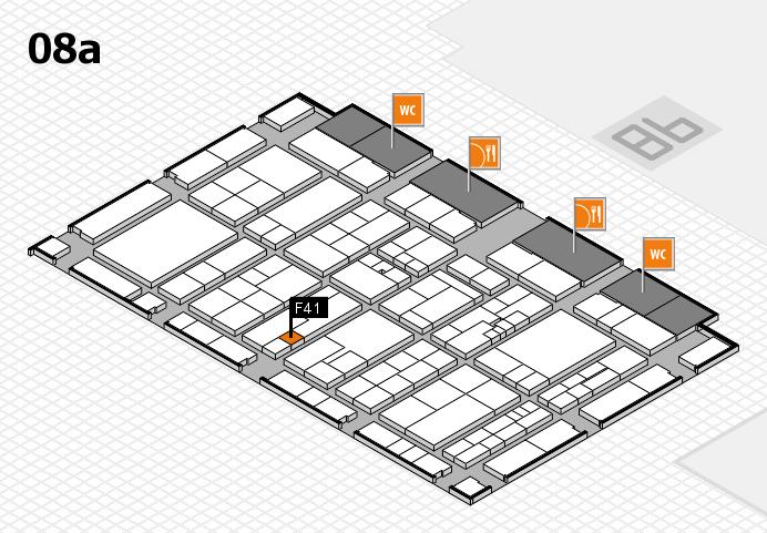 K 2016 hall map (Hall 8a): stand F41