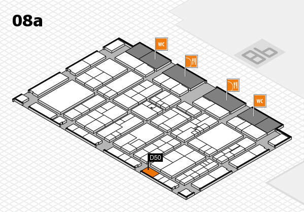K 2016 hall map (Hall 8a): stand D50