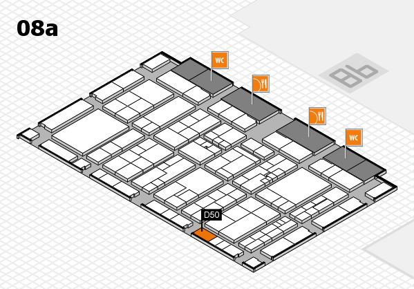 K 2016 hall map (Hall 8a): stand D50