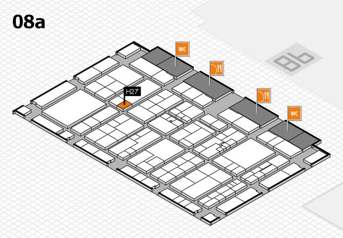 K 2016 hall map (Hall 8a): stand H27