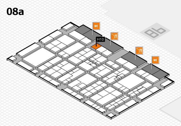 K 2016 hall map (Hall 8a): stand H10