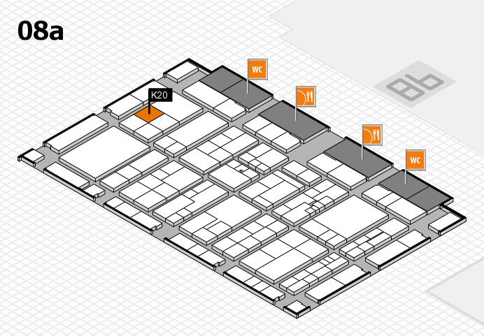 K 2016 hall map (Hall 8a): stand K20