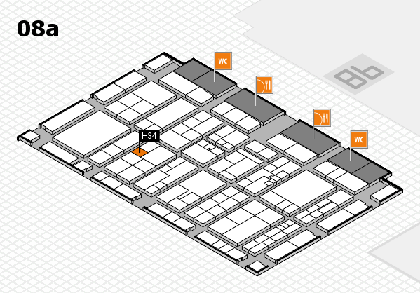 K 2016 hall map (Hall 8a): stand H34