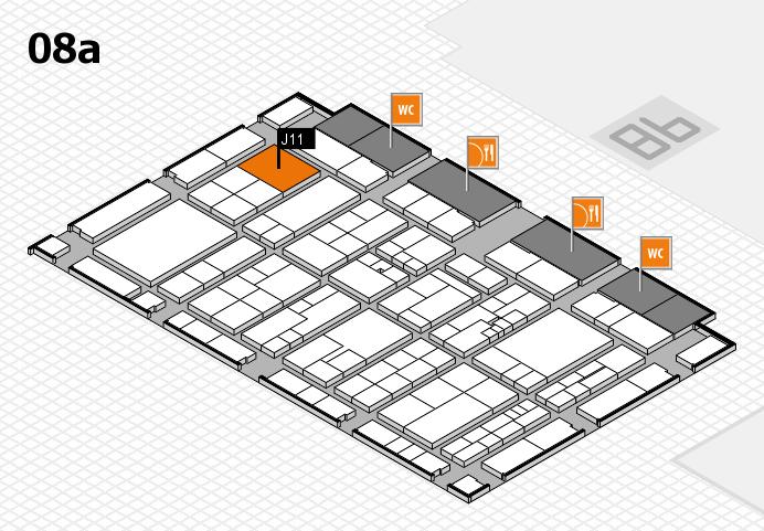 K 2016 hall map (Hall 8a): stand J11