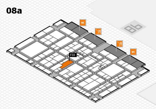 K 2016 hall map (Hall 8a): stand F33
