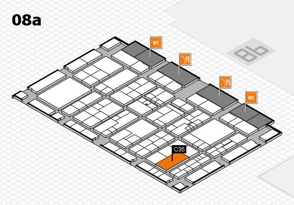 K 2016 hall map (Hall 8a): stand C35